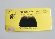 Black Chaplin Moustache 100% Human Hair Lace Backing Fake Mustache Style2029