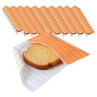 Paper Sandwich Bag Disposable Lunch Food Hamburger Toast Storage Korean 100 Bags