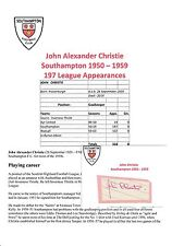 JOHN CHRISTIE SOUTHAMPTON 1950-1959 RARE ORIGINAL HAND SIGNED CUTTING/CARD