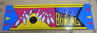 """original 23 3/4-7"""" STRATA BOWLING  arcade game  sign marquee CHECK PICTURE cf42"""