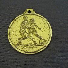 870B Médaille Laiton Sport Football A.S.V. Poussins 1987