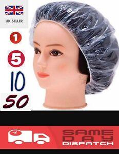 Disposable Shower Caps Bathing Elastic Clear Hair Care X1, X5, X10, X50 UK