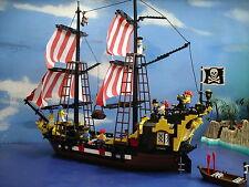 LEGO 6285 Vintage Black Seas Barracuda Nave Pirata 100% COMPLETO