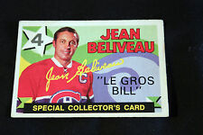 Jean Beliveau Retires Montreal Canadiens 1971-72 O-Pee-Chee #263