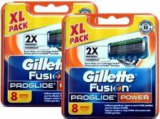 16 Gillette Fusion Proglide Power Rasierklingen mit 1 x Black Aktivkohlemaske