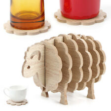 Sheep Shaped Coasters Cup Mat Drink Placemat Cup Holder Coffee Tea Home Decor HS