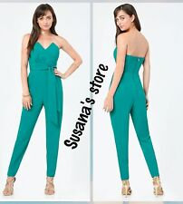 NWT BEBE Natalie Strapless Jumpsuit SIZE S Upscale-occasion, gorgeous!!! $148