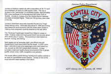 Juneau Police (Alaska) Shoulder Patch on a Department History card from 1990's