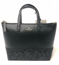Kate Spade Greta Court Ina Black Glitter Crossbody Bag Wkru5610 169