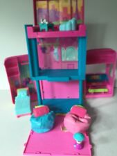 Polly Pocket Triple Decker Pink Bus including accessories shown