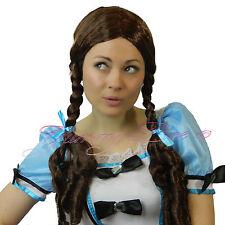 Yummy Bee Wig Plaits Costume Brown Dorothy Long Women Doll School Girl Fairytale