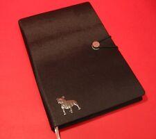 Staffordshire Bull Terrier A5 Black Note Book Dog Journal Vet Christmas Gift