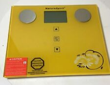 NatureSpirit Body Composition Weighing Scale Back Lid LCD Display Up To 330lbs.