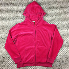 JUICY COUTURE Hot Pink Velour Full Zip Sweat Top Hoodie - Size XL MINT!