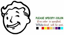 "VAULT BOY Funny Graphic Die Cut decal sticker Car Truck Boat Window 6"""