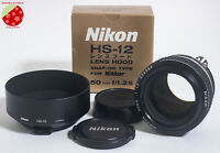 ●Mint Nikon Ai-S NIKKOR 50mm f1.2 w/ Metal Hood HS-12 MF Prime Lens from Japan●