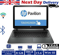 "HP Pavilion Notebook 15-p158na 15.6"" Touch Laptop AMD A10 2.10Ghz 8GB RAM 500GB"