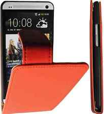 HTC ONE (M7) Flipstyle PU Leder Tasche Handytasche Rot-02 Hülle Case Cover