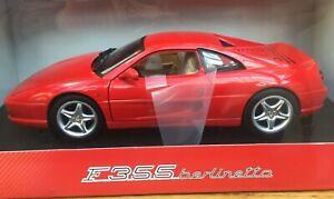 MATTEL HOT WHEELS BLY57 FERRARI F355 BERLINETTA diecast model car red 1997 1:18