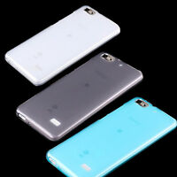 PELLICOLA + Custodia FLEXY termoplastica SEMI-TRASPARENTE per Huawei G Play Mini