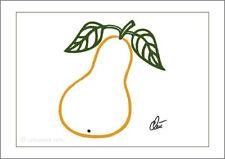 JACQUELINE DITT -  Pear - outline  Original Druck Grafik signiert Bilder Birne