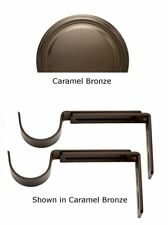 Designer Metals Curtain and Drapery Pole Brackets (Caramel bronze) (1858573)