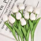 10pcs Artificial Tulip Flowers Fake Flower Bouquet for Wedding Party Home Decors