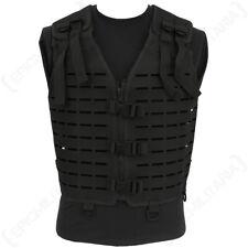 Découpe Laser Tactical Vest-Noir-MOLLE SANGLE RIG Combat Airsoft Armée Homme Nouveau
