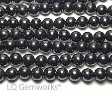 "15"" Strand RUSSIAN SHUNGITE 6mm Round Beads NATURAL"