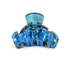 BARETTE PINCE CRABE NOIRE & BLEUE FASHION POUR CHEVEUX LONG 9 CM REF 259