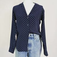 Equipment Silk Polka Dot Button Down Shirt Women's Size XS