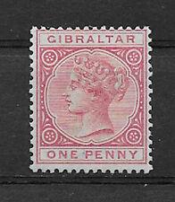 GIBRALTAR , VICTORIA , 1886/98, 1p STAMP , PERF , M/NG , CV$$50