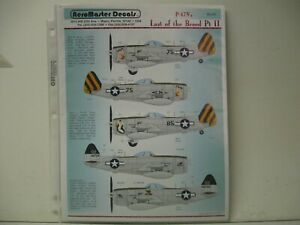 AEROMASTER DECALS 1/48 P-47N THUNDERBOLTS LAST OF THE BREED PT.II     #48-357
