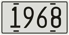 Dodge, Ford or Chevy antique vehicle 1968 License plate