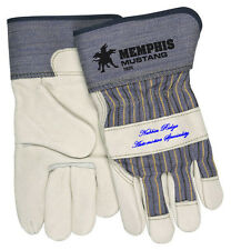 "MCR 1935 Memphis Mustang Cowhide Leather Palm Gloves with 2.5"" Safety Cuff - XL"