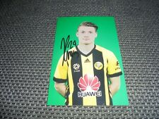 JAMES McGARRY * WELLINGTON PHOENIX & NEW ZEALAND - PHOTOGRAPH ORIGINAL SIGNED !!