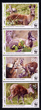 AFGHANISTAN 2004 WWF MUSK DEER STRIP OF 4  NOTED IN SCOTT