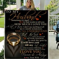 TO MY HUSBAND HOW MUCH I LOVE YOU 3D CUSTOM SHERPA FLEECE PHOTO BLANKET FAN GIFT