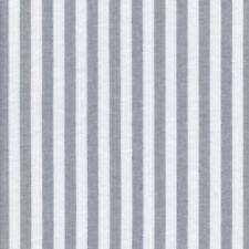 Textiles français Woven Marine Stripe fabric Grey 1cm 100% Cotton per half metre