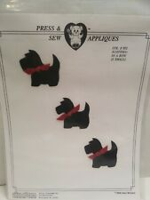 Vintage McCarn Press & Sew Applique 892 Scottie Dogs in a row  NOS/ Instruction