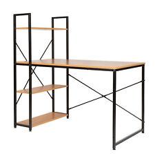 ts-ideen Bureau table étagère réglable intégrée noir montage à droite gauche