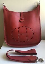 HERMES EVELYNE PM Red Epsom Leather SHOULDER CROSSBODY HANDBAG