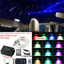 Car Starry Twinkle Fiber Optic Lamps BT APP Control Headliner Light RGB w/Remote