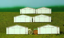 N scale STEEL BUILDINGS 2 morton style background building flat