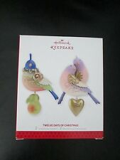 Hallmark Twelve Days of Christmas Bird Ornaments Partridge Two Turtle Doves Set