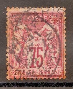 FRANCE-1876/8-TYPE SAGE-75 C.-used stamp-Y&T-nr. 81- ROSE- Perforate