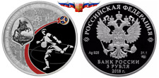 Russia 3 rubles 2018 FIFA Football World Cup Saint Petersburg Silver 1 oz Proof