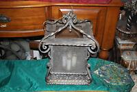 Antique Victorian Wrought Iron Chandelier Ceiling Light Fixture 4 Light Curves
