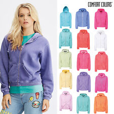 Comfort Colors Women's Full Zip Hooded Sweatshirt - Authentic Winter Jacket