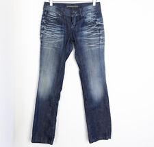 Miss Sixty designer women's medium wash blue jeans SIZE 27 denim straight slim